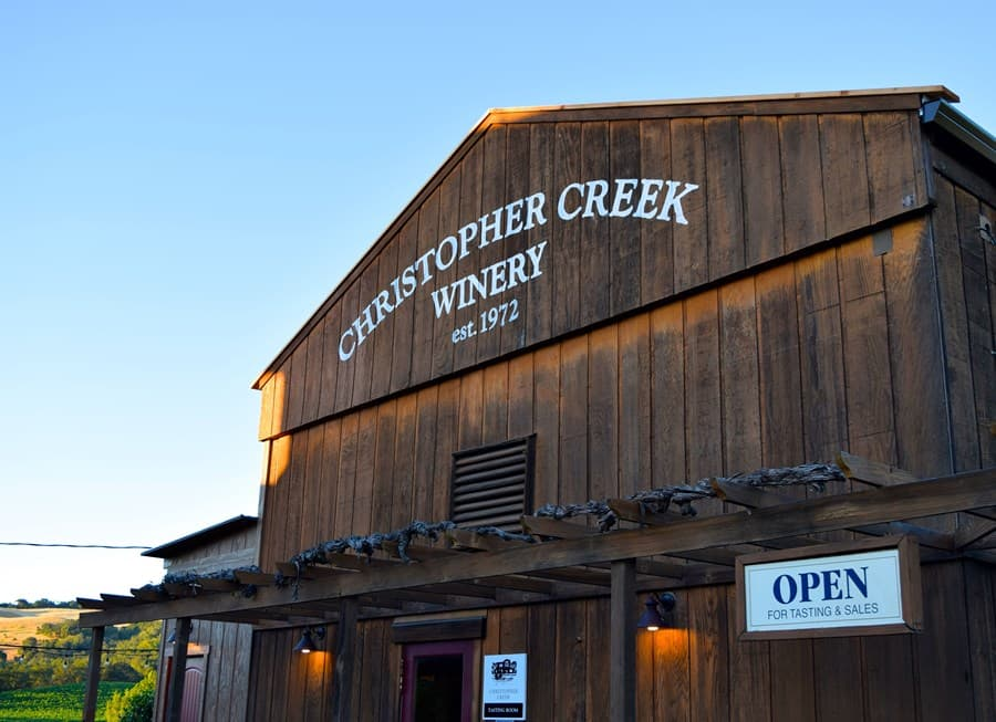 A gallery image (10123) of Christopher Creek Winery from CellarPass