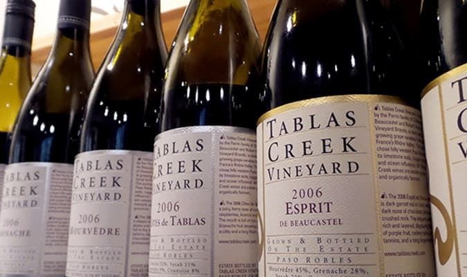 A gallery image (17525) of Tablas Creek Vineyard from CellarPass