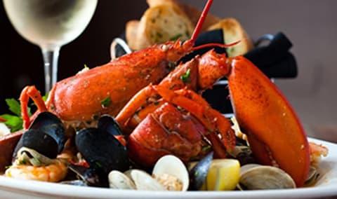Blend Your Own Merlot and Sunset Lobster Dinner Image