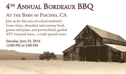 4th Annual Bordeaux BBQ