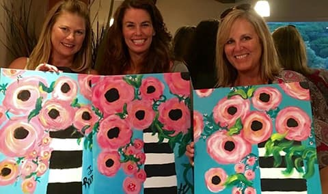 Sunday afternoon, Roadhouse Paint & Sip 08/21