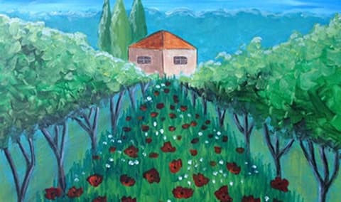 Wine  Canvas at Mankas Corner Gardens Image
