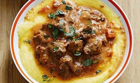 Polenta  Stew Lunch Image
