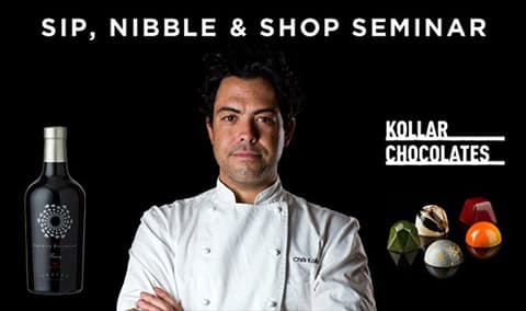 Chocolate Seminar: Sip, Nibble & Shop with Famed Chocolatier Chris Kollar