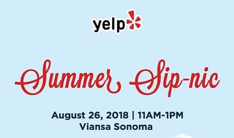 Yelp's Summer Sip-nic at Viansa Sonoma