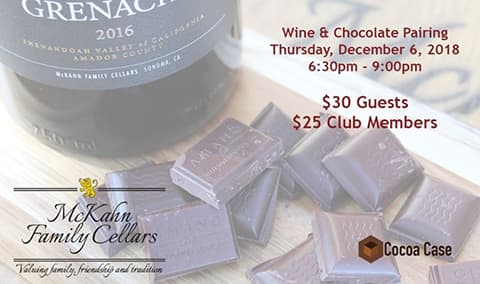 Wine  Chocolate Pairing Image