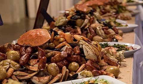 Chardonnay and Crab Feast Image