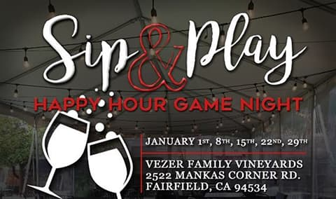 Vezer Family Vineyard - Sip  Play Game Night Image