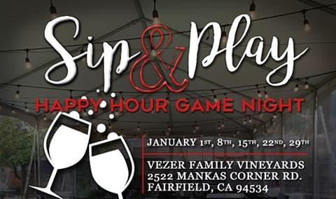 Vezer Family Vineyard - Sip  Play Game Night Image
