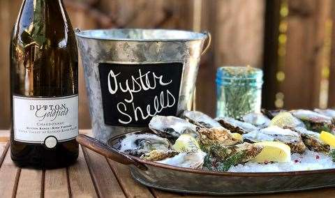 Mothers Day White Wines and Oysters Image
