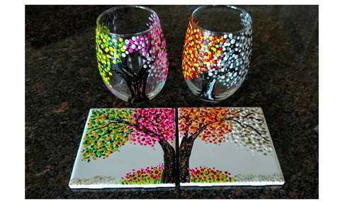 Mothers Day Paint N Sip at J Wrigley Vineyards Image