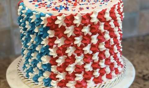 Wine  Design Star Spangled Sprinkle Cake Image