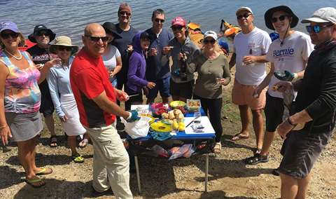 Kayaking and wine on Tamales Bay