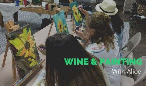 Wine  Painting with Alice Waugh- Image