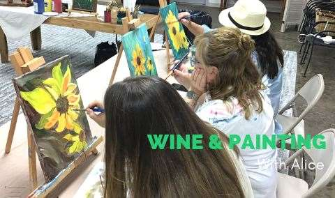 Wine  Painting with Alice Waugh Image
