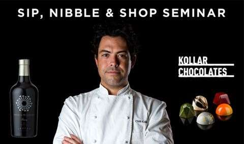 Chocolate Seminar Sip, Nibble  Shop with Famed Chocolatier Chris Kollar Image