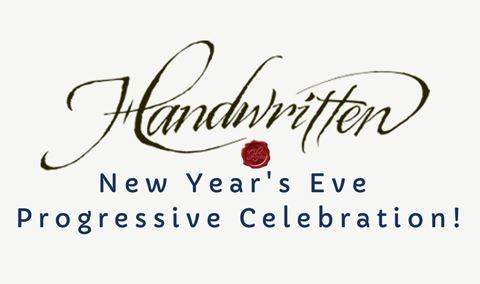 Handwritten New Year's Eve Progressive Celebration!