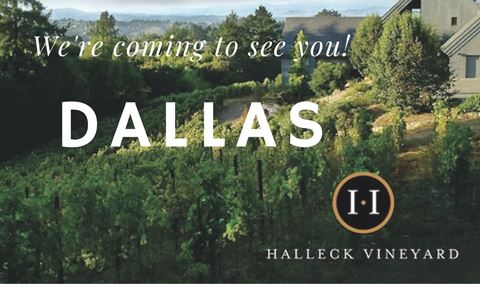 Halleck Vineyard Tasting Salon | Saturday, January 18 | Dallas, Texas