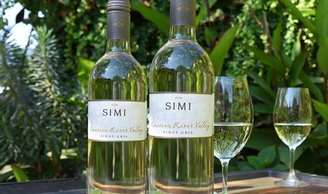 Food and Wine Affinities featuring  Simi Russian River Pinot Gris.