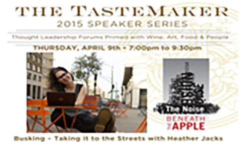 TasteMakers Busking  Taking it to the Streets with Author Heather Jacks Image