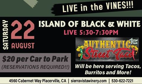 Island of Black & White Live in the Vines!!