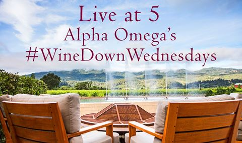 Join Alpha Omega Instagram/Facebook Live at 5 #WineDownWednesdays @AOwinery Img