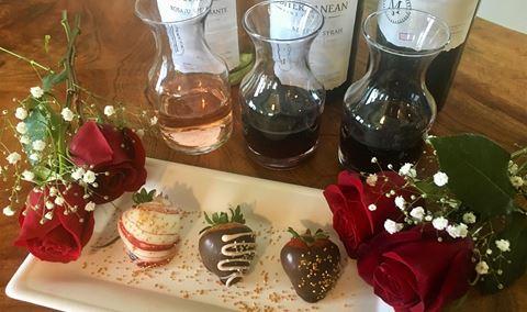Valentine's Chocolate-Dipped Strawberries & Wine Pairing Img