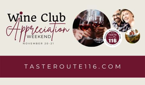 Wine Club Appreciation with Taste Route 116 Img