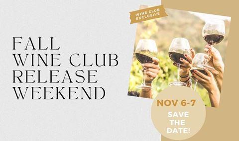Fall Wine Club Release Weekend Img