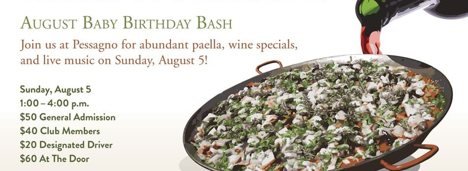 Purchase Tickets to Paella & Pessagno  |  August Birthday Bash at Pessagno Winery on CellarPass