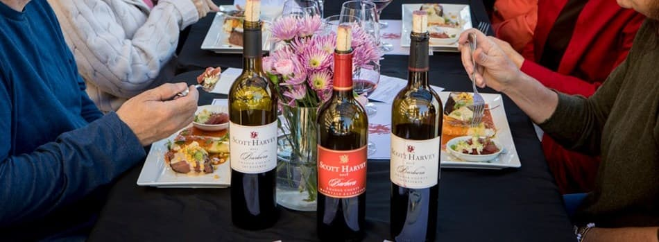 Purchase Tickets to February 3&3 Food & Wine Pairing Experience at Scott Harvey Wines on CellarPass