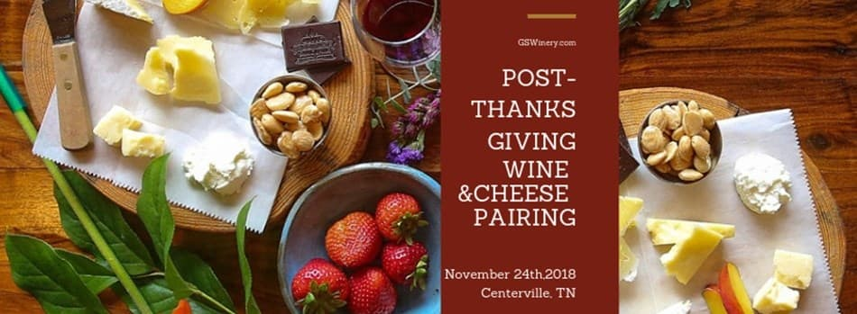 Purchase Tickets to Post-Thanksgiving Wine & Cheese Pairing with Tank Room Tour at Grinder's Switch Winery on CellarPass