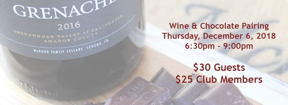 Purchase Tickets to Wine & Chocolate Pairing at McKahn Family Cellars on CellarPass