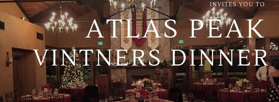 Purchase Tickets to Atlas Peak Vintners Dinner at Atlas Peak Appellation Association on CellarPass