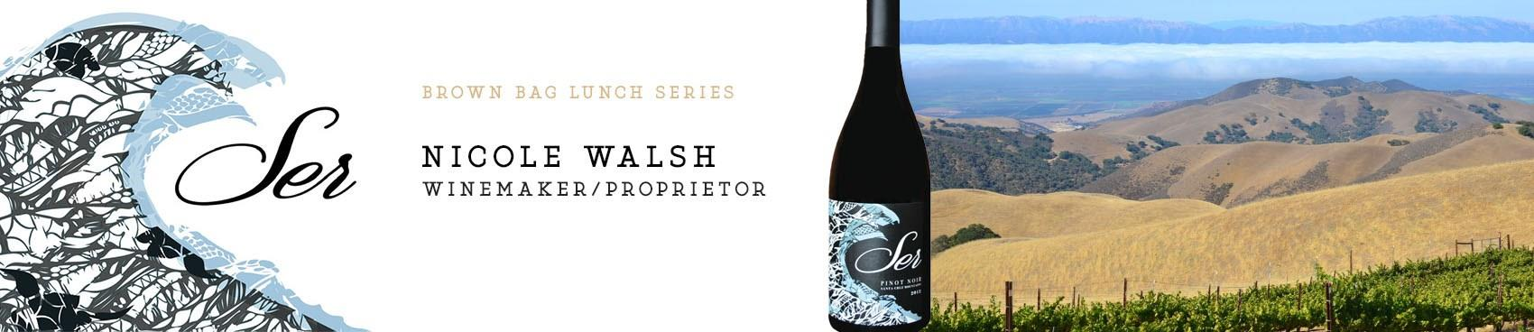 Purchase Tickets to 'Brown Bag Lunch Series' Feat. Winemaker Nicole Walsh of Ser Wines at The Annex by Industry Outlaw on CellarPass