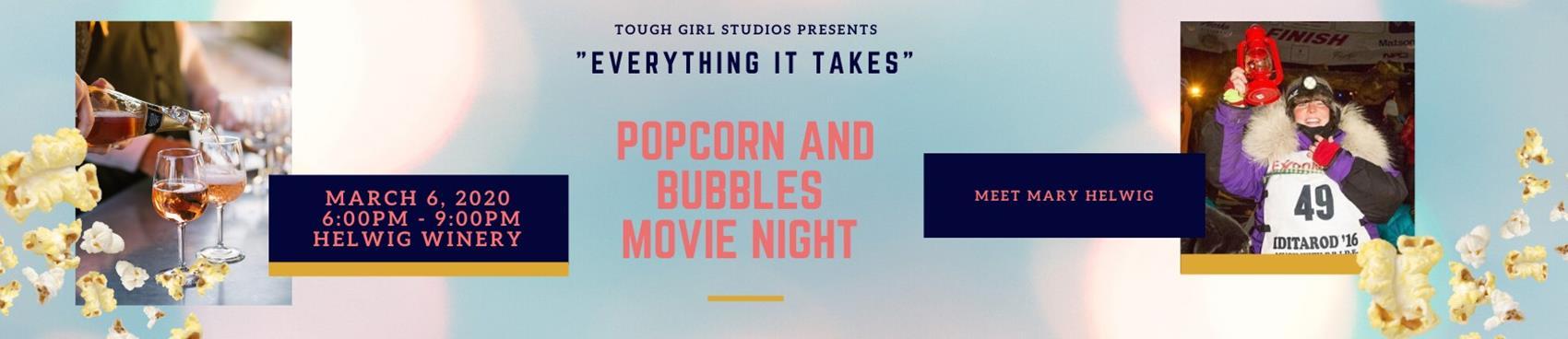 Bubbles and Popcorn Movie Night