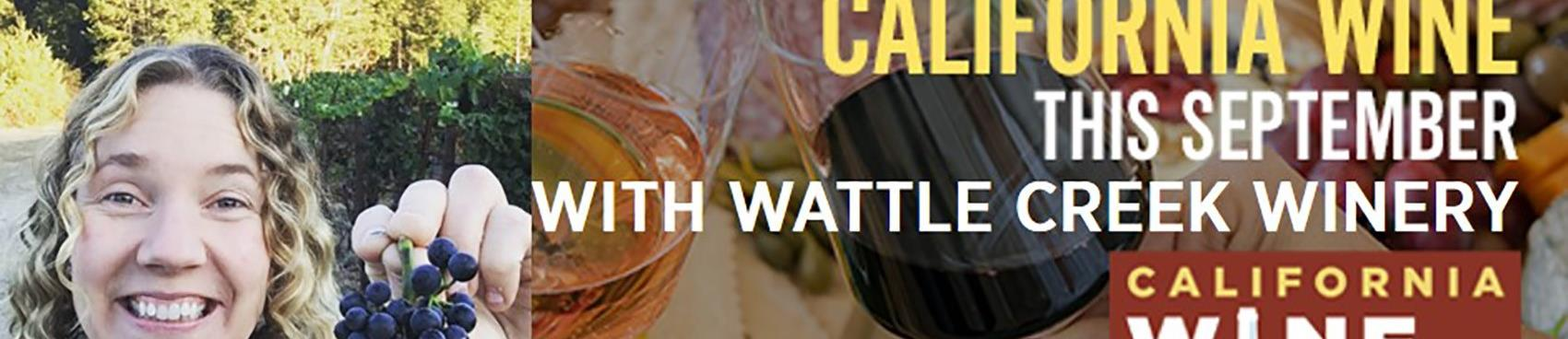 California Wine Month Virtual Tasting with Wattle Creek Winery